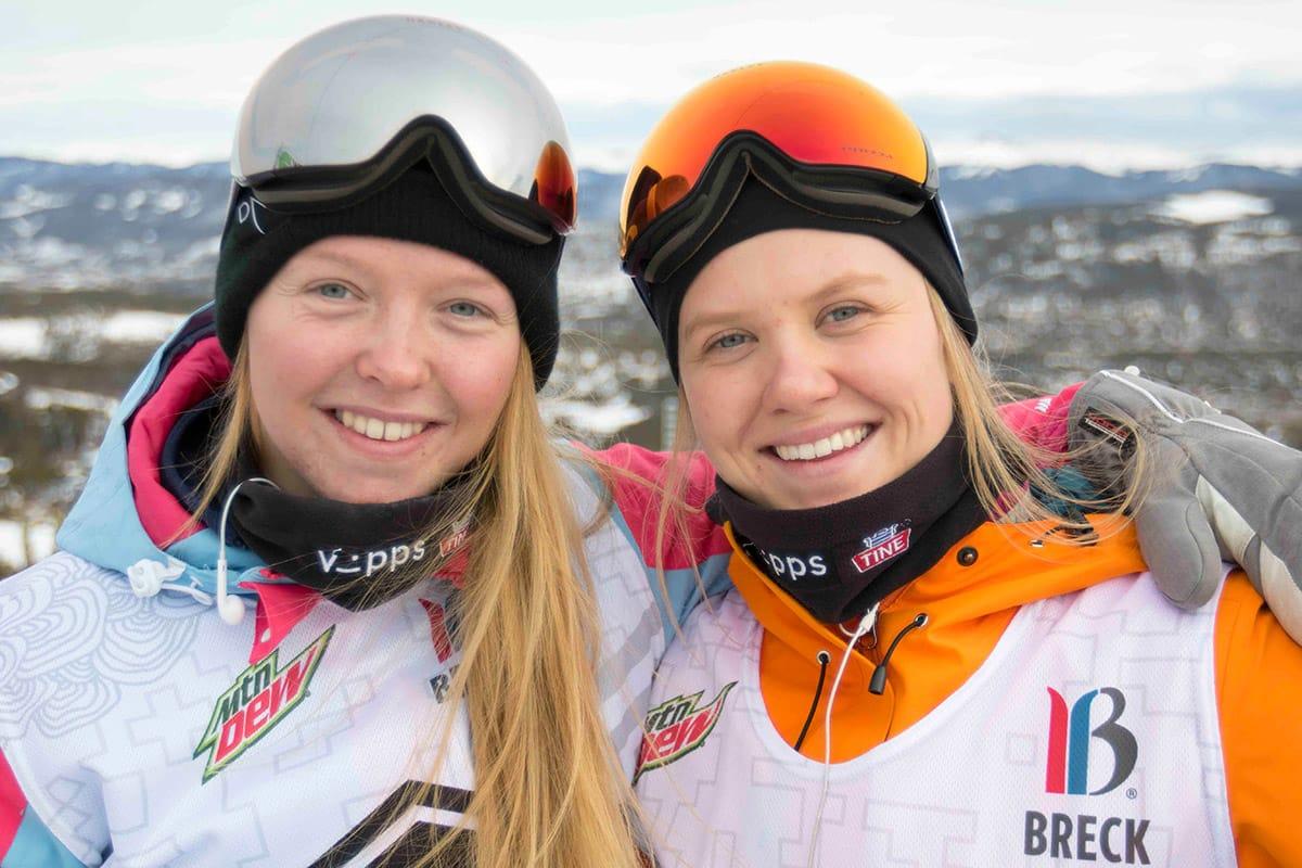 FINALEKLARE: Johanne Killi og Tiril Sjåstad Christiansen er begge klare for finale. Foto: Christopher Frankum