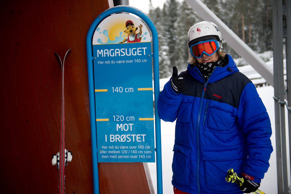 STOR NOK: Første gang Anders Backe var her var han ikke høy nok til å kjøre Magasuget. Heldigvis var han voksen nok sist vinter. Foto: Vegard Breie