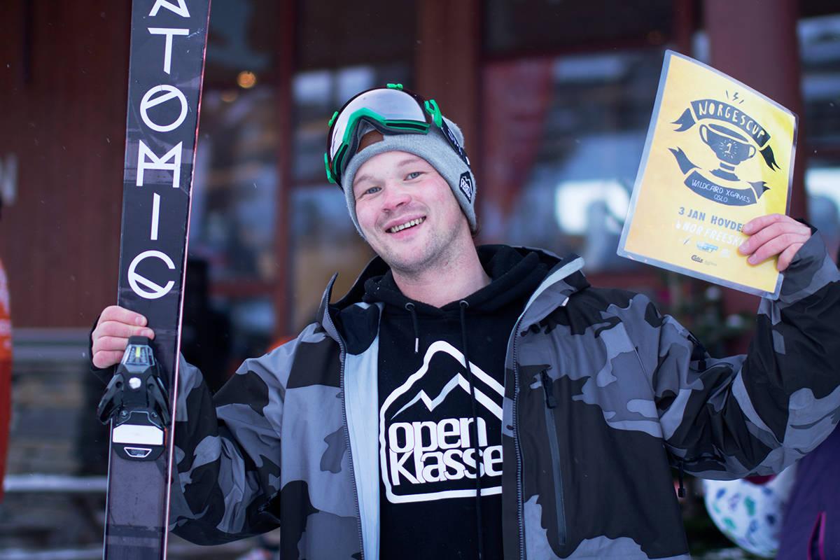 VINNER: Det ble Klaus Finne som vant wildcardet til X Games i Oslo. Foto: Anders Holtet