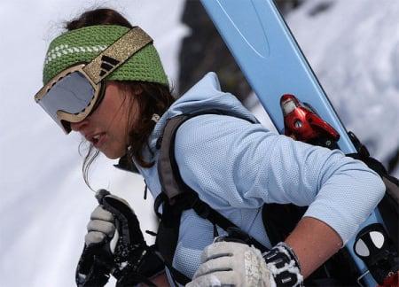 Tyske Pia Widdmaiser tar en pust i bakken. Foto: Sverre Hjørnevik