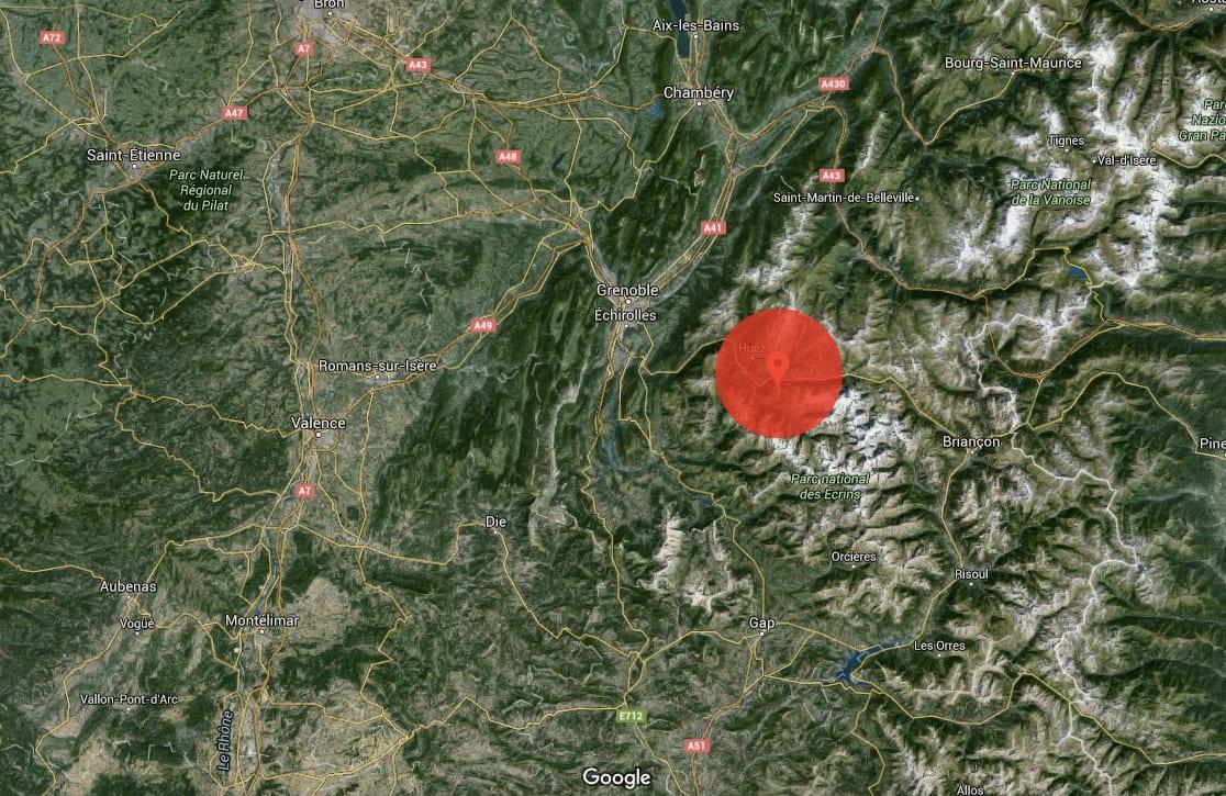 SKRED: Det var i dette området skredet gikk. Foto: Google Maps