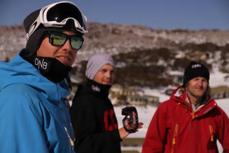Landslagsassistent Espen Berg-Johnsen (til venstre) sammen med PK Hunder og Aleksander Aurdal.