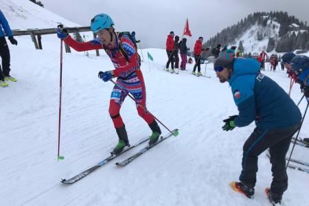 Vegard Øie ble nummer 19 på vertikal under rando-VM i Sveits onsdag. Foto: Gudmund Kårvatn