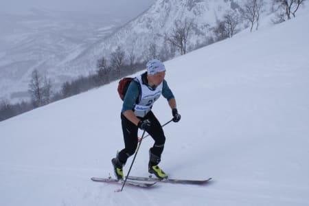 Daniel Boberg Leirbakken forsvarte seieren fra i fjor på Langfjordrennet i helga. Foto: Morten Fuggeli