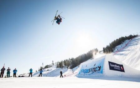 HØYT NIVÅ: Kjørerne dro på fælt under Snowstock i Kongsberg, men Markus Leyobo kjørte best av alle. Tor Magnus Anfinsen
