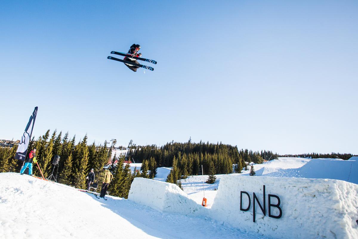 NM I GANG: Denne helga skal norgesmesteren i både big air og slopestyle kåres i Hafjell, og slopestylefinalene ser du direkte på friflyt.no! Foto: Andreas Løve Storm Fausko