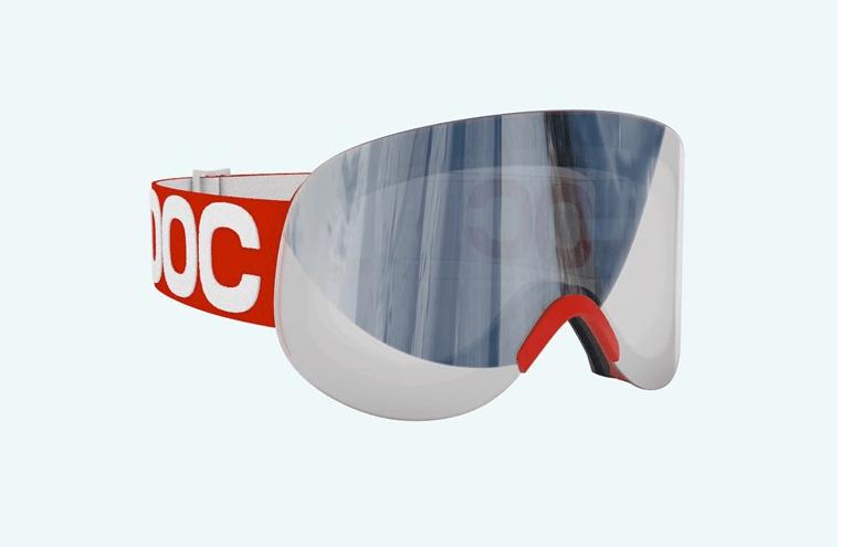 LID: De nyeste brillene til POC har ingen ramme på utsiden av glasset.