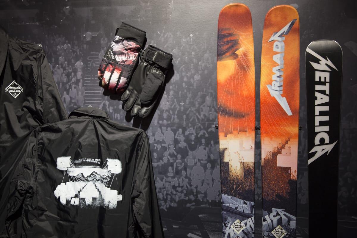 METALLICA + ARMADA = SANT: Skimerker som bruker rockeband er ingen nyhet, men dette samarbeidet mellom Armada og Metallica har du ikke sett før. Foto: Hans Petter Hval