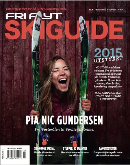NYE KLÆR: Pia rakk akkurat å få på seg ny jakke fra ny sponsor før fotoshooten til årets Skiguide. Coverfoto: Lars Myhren Holand