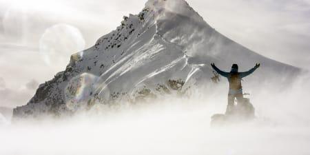 Cody Townsend er glad han har med kona si i skifilm. Kona hans er Elyse Saugstad.