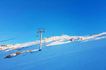 ÅPNER: Lørdag åpner stolheisen, som går til toppen av Linken. Foto: Narvikfjellet skisenter