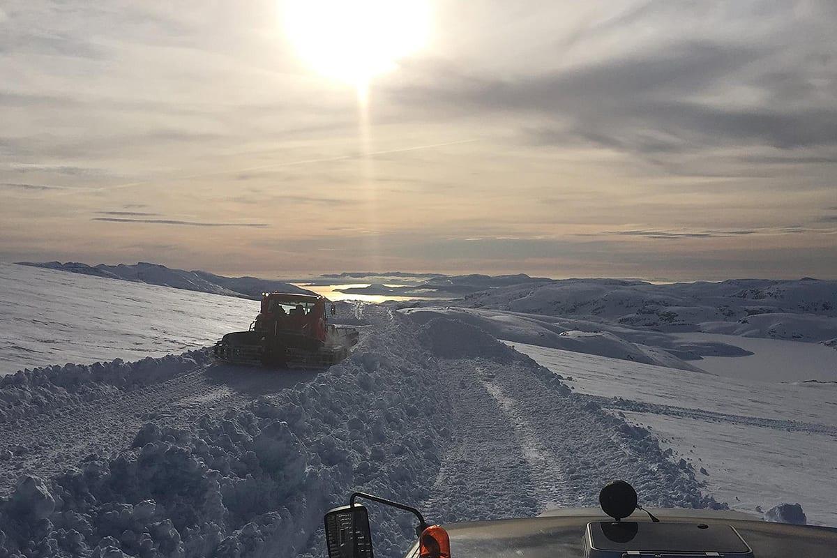 HEIS: Slik blir utsikten fra den nye skiheisen. Foto: Andreas Skogseth / Fonna Glacier Ski Resort