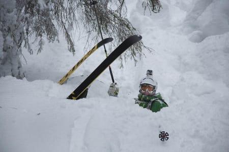 NYSNØ: Det blir godt med snø i Norefjell denne uka. Her med Stian Skinnes Fossen Foto: Thomas Kleiven