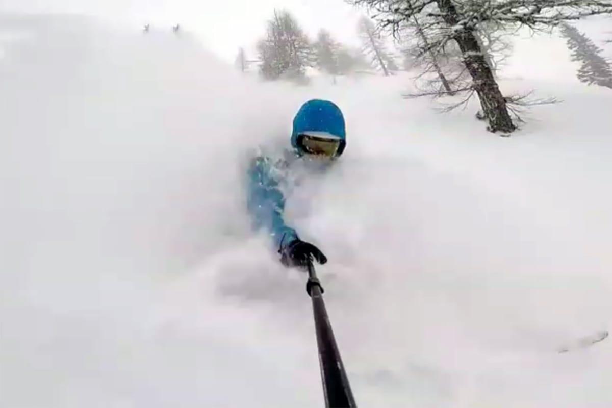 GODE FORHOLD: Endelig ble skiforholdene i Chamonix gode. Foto: Martin Leite Gilleshammer