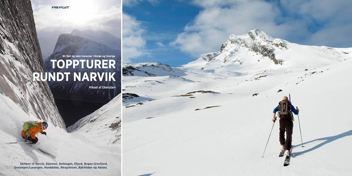 SALG: Toppturer rundt Narvik er klar for butikkhyllene. Her ser du Sovende Dronning og bokcoveret.