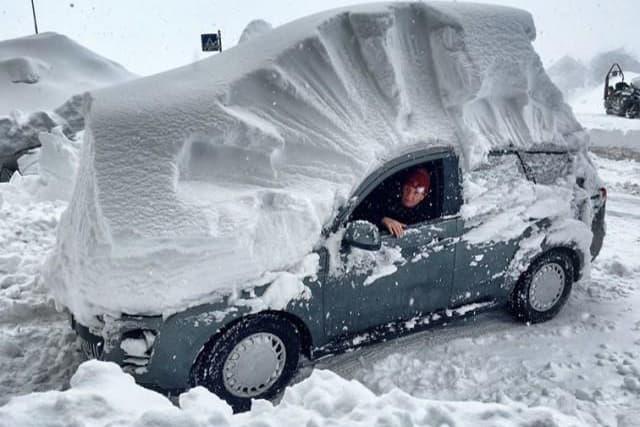 PUDDER: Her i Italia kan du trygt se at snøen allerede har kommet. Foto: Meteoweb.it