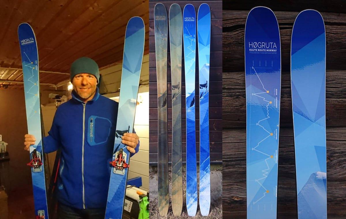NORSKDESIGNA TOPPTURSKI: Knut Erik Tessnes viser stolt fram Høgruteskia, som han og gjengen på Besseggen Fjellsport har laget sammen med det amerikanske skimerket Praxis.