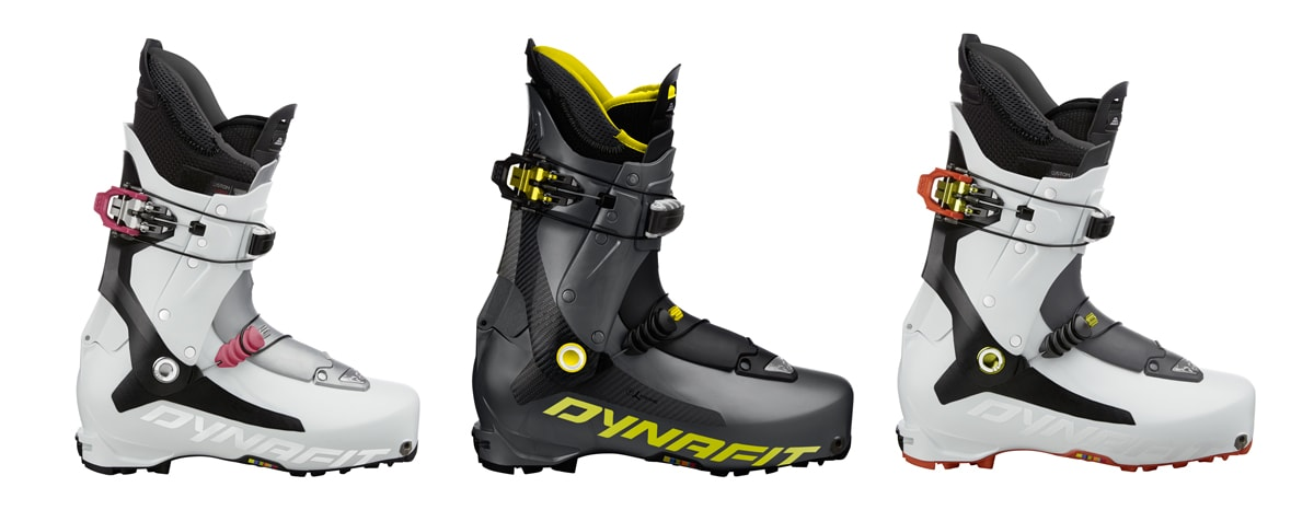 NY SKO: Fra venstre: Dynafit TLT 7 Expedition CL Womens, TLT 7 Performance og TLT 7 Expedition CL Mens