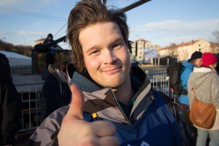 MED: Klaus Finne er med til Chile. Foto: Anders Holtet