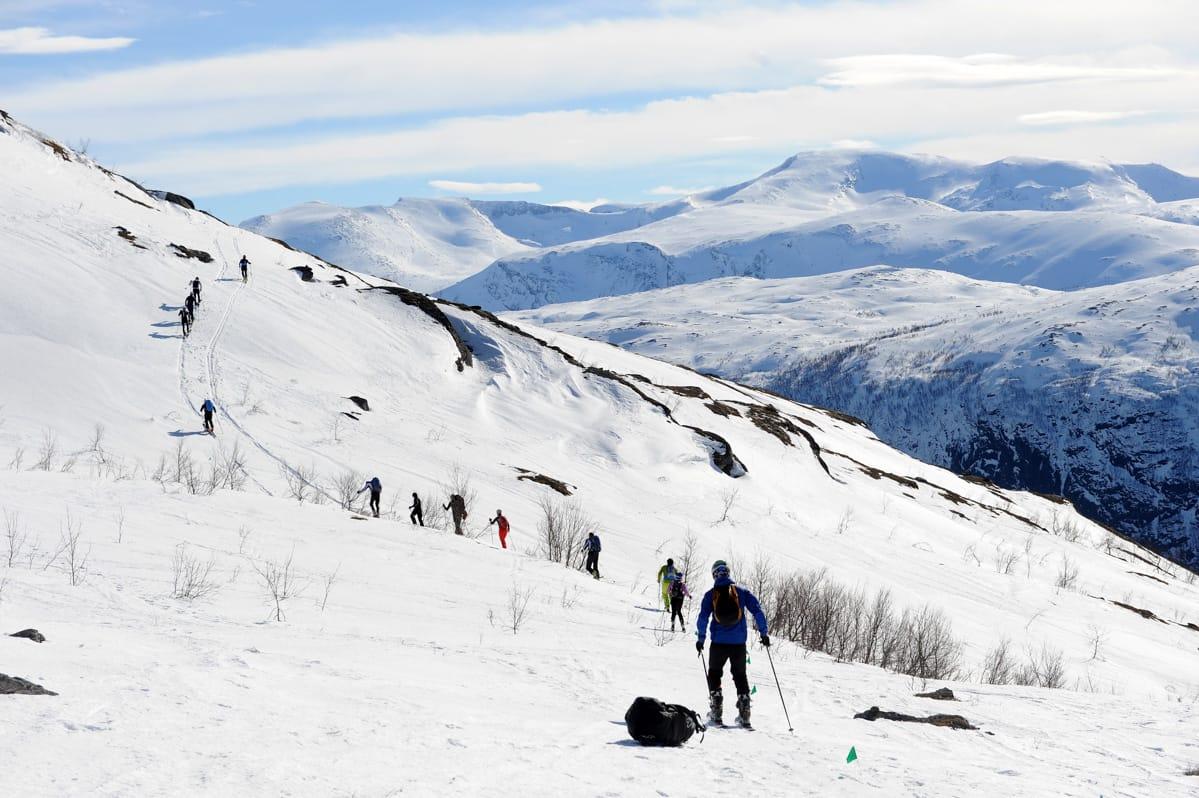 SKAL SAMARBEIDE: Narvik Rando skal samarbeide med Andreas Franssons minnefond. Her fra fjorårets konkurranse. Foto: Rune Dahl