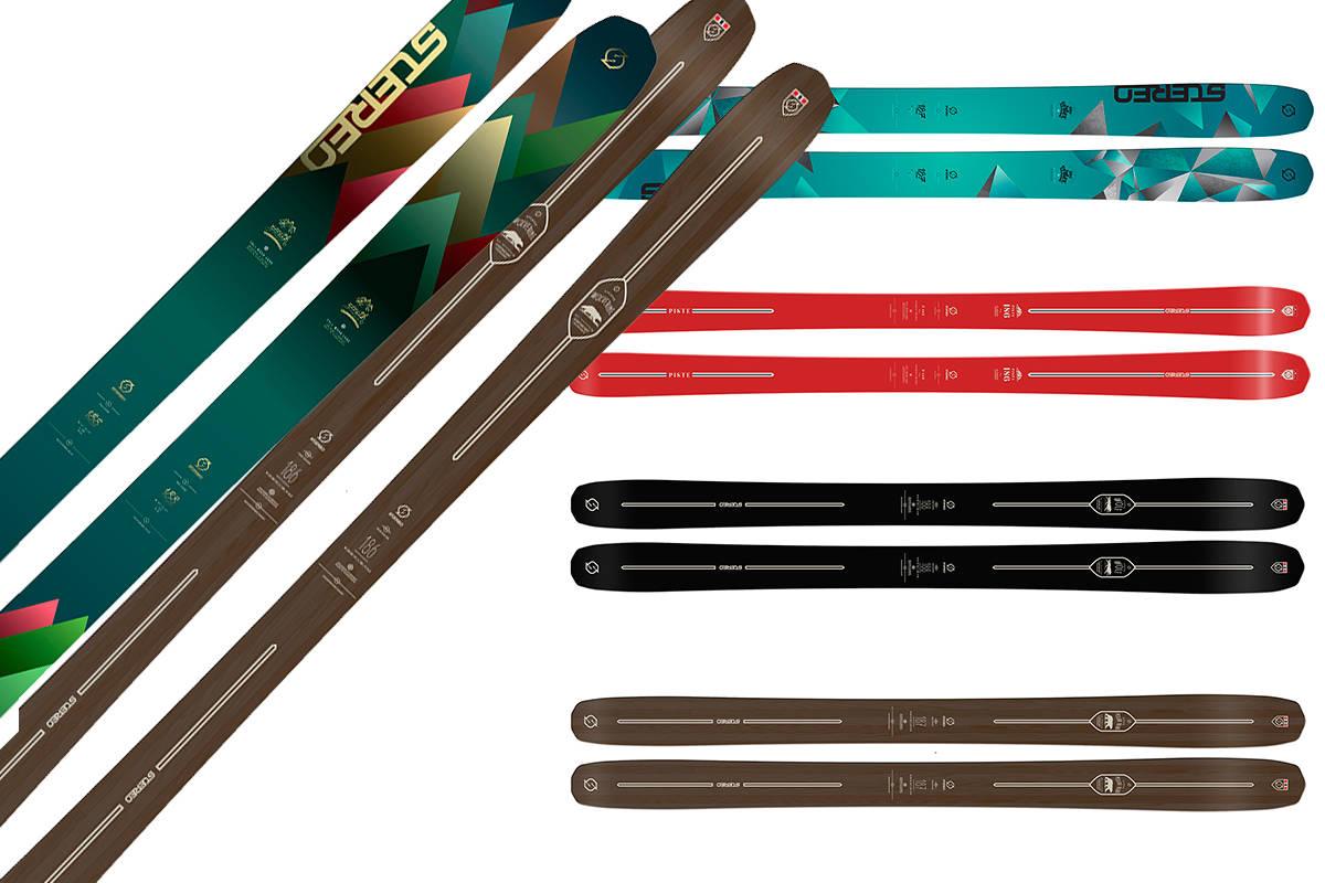 NYHETER: Her er noen av de nye skia fra Stereo. Foto: Stereo skis