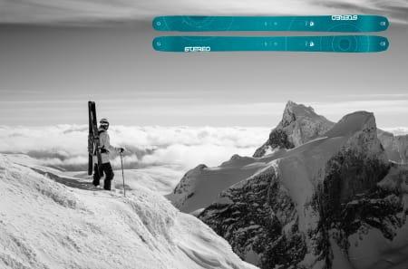 KLIMANØYTRAL: Kjøper du modellen fram fra Stereo Skis får du med klimakvoter på kjøpet, som skal gjøre skia klimanøytral. Fine opplevelser i fjellet er også med på kjøpet. Foto: Stereo Skis