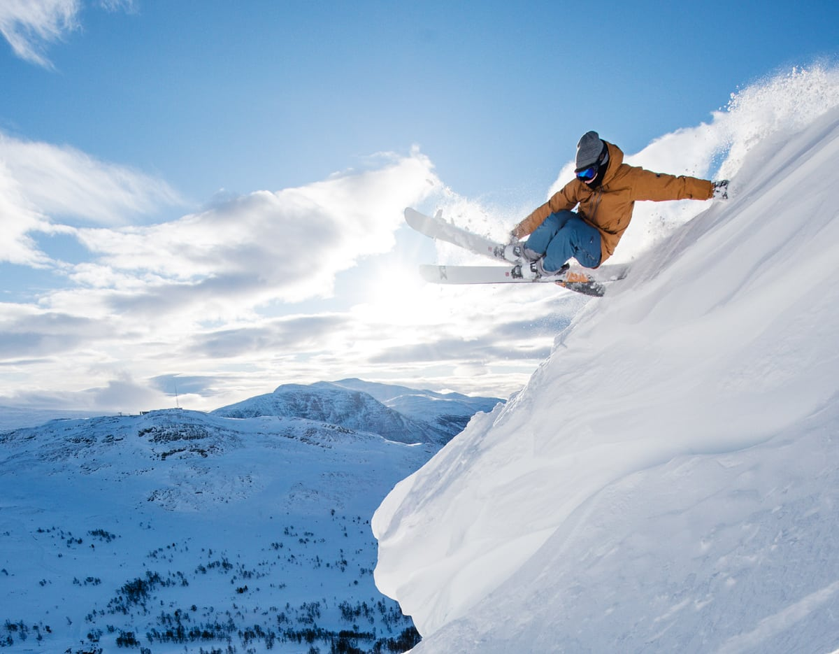 INN TIL SEIER: Stinius Hoseth Skjøtskift vant søndagens 3-stjerners Freeride World Qualifier (FWQ)-konkurranse i Andorra. Arkivfoto: Martin Innerdal Dalen