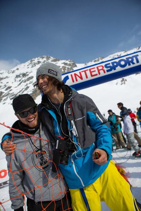 To MEGET fornøyde trenere: Luke Allen og sportssjef Christopher Frankum.