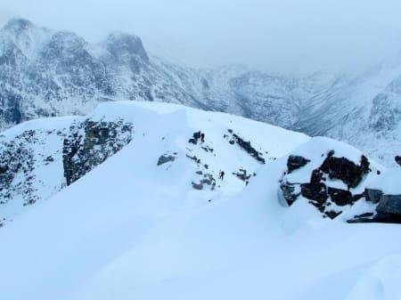 Fin nedkjøring østover fra Litlskjorta og ned i Kannsdalen