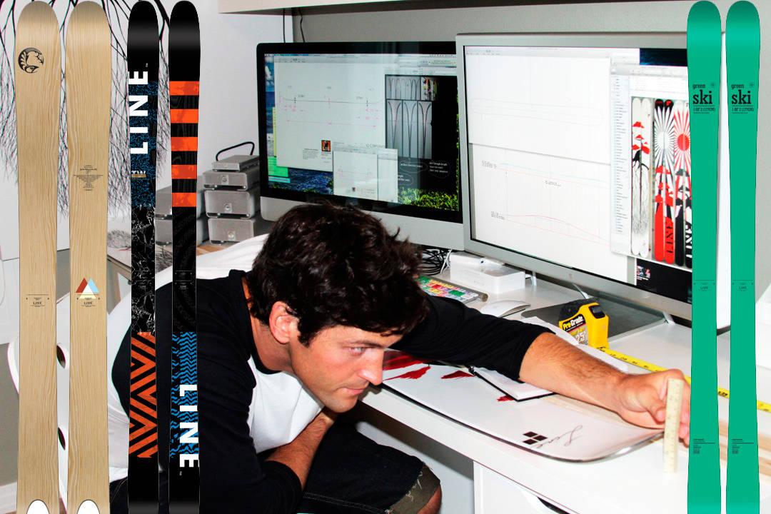 DESIGNER: Eric Pollard designer sine egne ski, og kommer nå med en ny modell. Foto: Erin Valverde