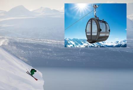 ENDA LETTERE TILGJENGELIG: Med ny gondol blir Narviks fantastiske frikjøringsmuligheter enda lettere tilgjengelig – men du må fortsatt gå for å komme til legendariske Mørkholla. Foto: Thomas Kleiven/ Bartholet ropeways
