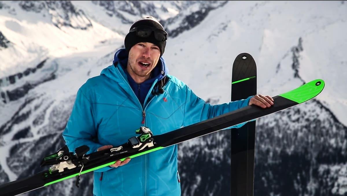 BMT: Produksjef for freeridelinja til Völkl Patrick Wesch virker være temmelig fornøyd med de nye skia.