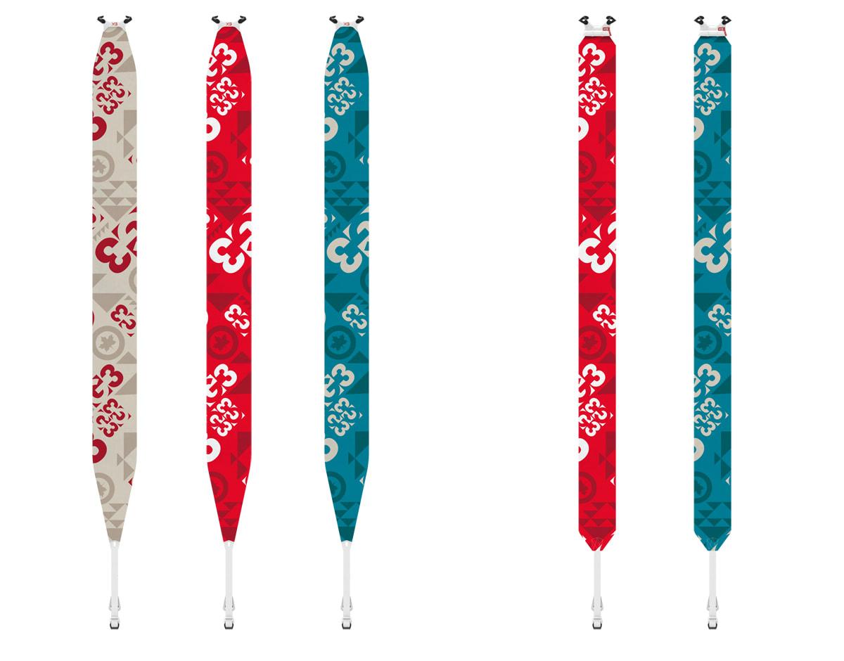KOMMER NESTE VINTER: To nye skifell-modeller fra G3, Minimist (de tre til venstre) og Escapist.