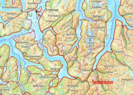 NYTT SNØSKRED: Det har blitt utløst et nytt snøskred på Blåbærfjellet.