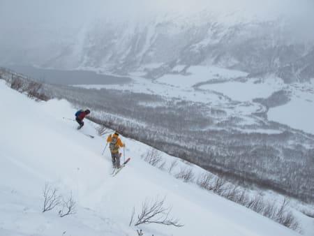 Øyvind Slørdal og Yngve Dalquist gjør seg klare  for 2 x Storhaugen i Storlidalen.