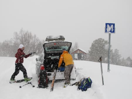 Snøvær i Storlidalen