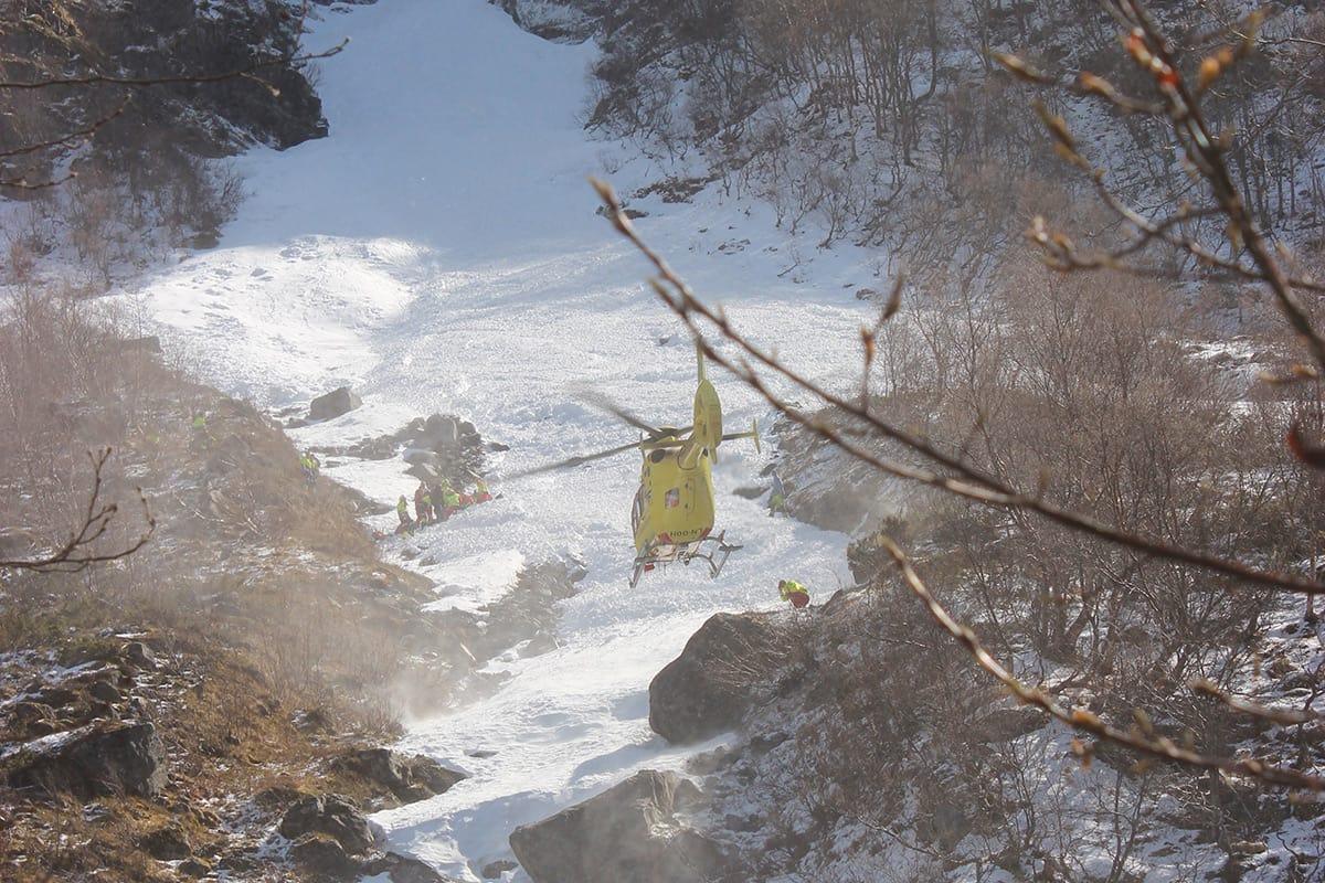 SKREDULYKKE: Skredet gikk på vestsiden av Flenjaeggi. Foto: Arne Veum