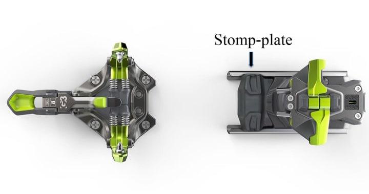 GLIPA KAN BLI FOR STOR: G3 advarer mot for stor glipe mellom støvelsålen og stomp-plata, som er den svarte plastplata foran på bakbindingen. Foto: G3