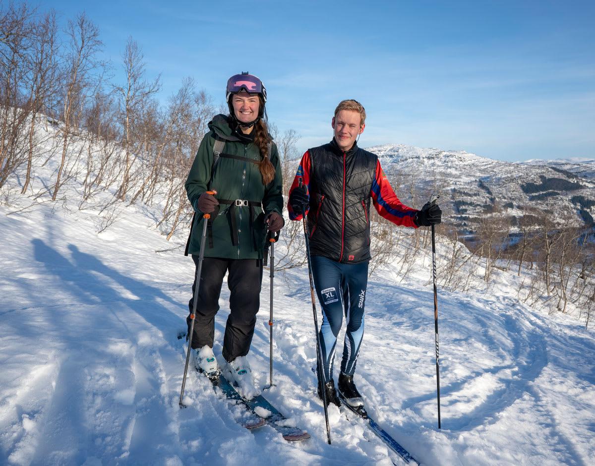 LOVE STORY: Oslogutten blir invitert med på ny skitur med den temmelig rå dama fra Sogndal, selv om det ikke går så bra på første date. Foto: Vegard Aasen Byrkjeland
