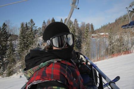 STØDIG: Magnus har holdt på samme idolet i mange år, Jon Brogan is the man! Magnus er ikke så verst på ski heller, så noen runder i Whyller og to turer i Tryvann gir avkastning!