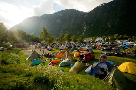 Smekkfullt på Folven camping. Foto: Vegard Breie
