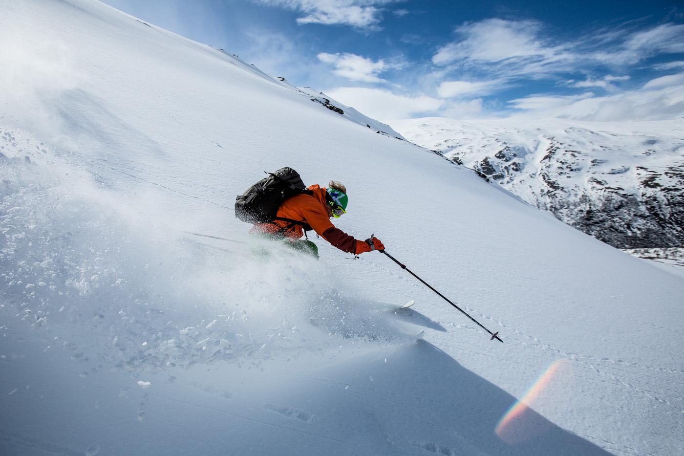 På ski fra Norges tak