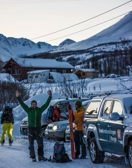 Jimmy og Markus er gira før dag 2 av workshopen – Foto: Ptor Spricenieks