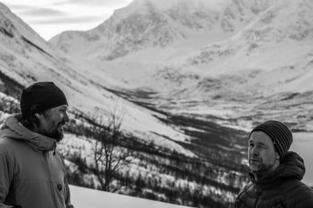 Nortind fjellfører Markus Landrø og IFMGA-guide Jimmy Halvardsson – Foto: Ptor Spricenieks