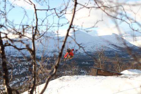 SPION: Fra sin posisjon i skogen tok fotografen snikbilder av kidsa i parken
