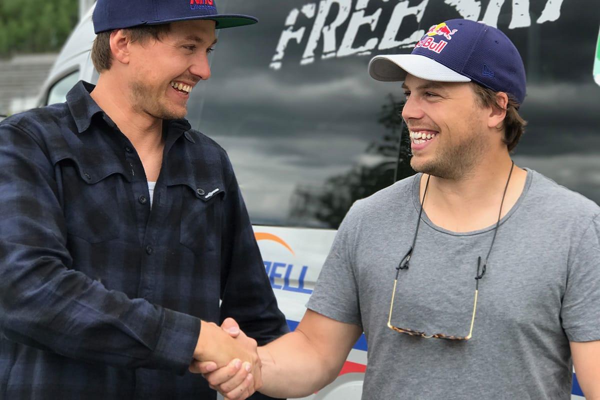 NY TRENER: PK Hunder blir ny trener. Her sammen med hovedtrener Espen Berg-Johnsen. Foto: NTG Lillehammer