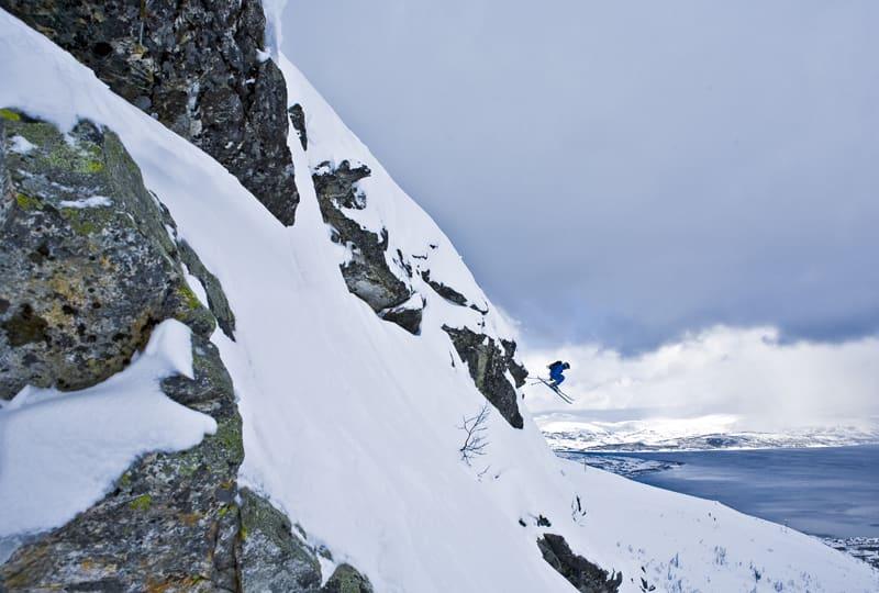 DJEVELBERGET: Her blir det forbudt å ferdes så fort heisene i Tromsø alpinsenter åpner. Foto: Jens Morten Øvrevoll