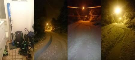 MODERNE: Med riktige ski og riktig føre kan et gangfelt i Kristiansand by på skimoro! Foto: Kristian Evensen