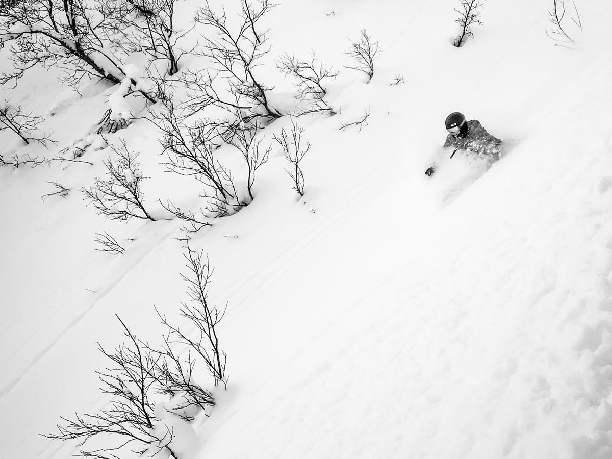 PUDDER PÅ ØSTLANDET: Lite å utsette på føret i Hallingdal denne helgen. Foto: Lars Storheim