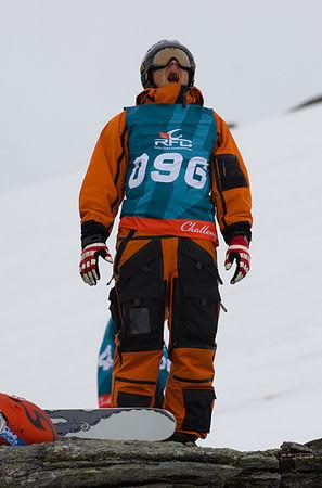 Håvard Ånenesen trekker frisk luft på nordlandsk vis. Brettkjøreren har så langt imponert i de norske konkurransene.